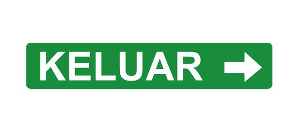 Box Type Double Side White Legend LED Keluar Sign 每 Arrow BOX TYPE LED KELUAR SIGN LED KELUAR SIGN EVERBRIGHT PRODUCTS Kluang, Johor, Malaysia Supplier Supply Manufacturer | ECO LED Lighting Solution