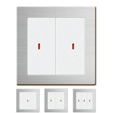 Mechanical Push Buttons (Sliver) Smart Home / Building Modules Johor Bahru (JB), Malaysia, China System, Service | Shield Technologies Product Sdn Bhd