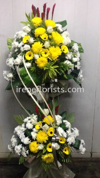 FW 012 Funeral Wreath Taiping, Perak, Malaysia. Suppliers, Supplies, Supplier, Supply | Irene's Florists De Beaute
