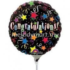 """Foil 18"""" Anagram Black congrat"""
