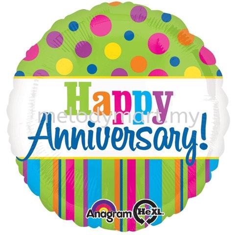 "Foil 18"" Anagram Green H.anniversary"