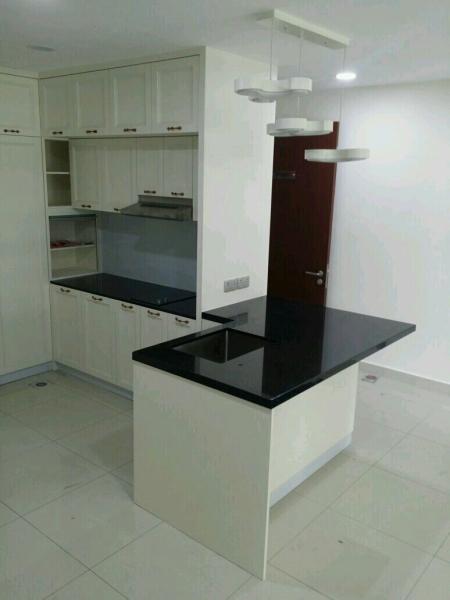 Black galaxy Quartz Stone Kitchen Cabinet Table Top Johor Bahru (JB), Johor, Skudai. Supplier, Suppliers, Supplies, Supply | Creato Venture (M) Sdn Bhd