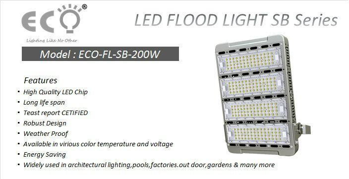 ECO-FL-SB-200W ECO-SB SERIES LED FLOOD LIGHT Kluang, Johor, Malaysia Supplier Supply Manufacturer | ECO LED LIGHTING SOLUTION (M) SDN BHD