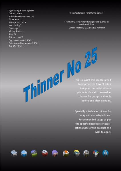 Thinner No 25 Thinner Protective Coating Ampang, Selangor, Malaysia Supply, Supplier, Suppliers | Hst Solutions Sdn Bhd