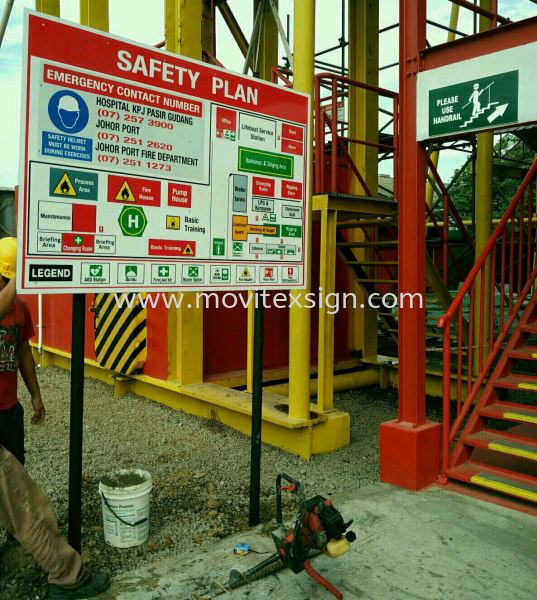 safety floor plan signboard for every entrance. Before u entering the factory to known where your direction?., when fire outbreak u can Exit for life. (click for more detail) Safety Signage safety sign sample Johor Bahru (JB), Johor, Malaysia. Design, Supplier, Manufacturers, Suppliers | M-Movitexsign Advertising Art & Print Sdn Bhd