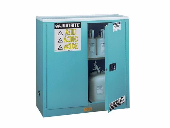 """EX Corrosives/Acid Stl Safety Cabinet, Dims. 44""""H, Cap. 30 gal., 1 shelf, 2 m/c doors Safety Cabinet Safety Containment System Kuala Lumpur (KL), Selangor, Malaysia Supplier, Suppliers, Supply, Supplies 