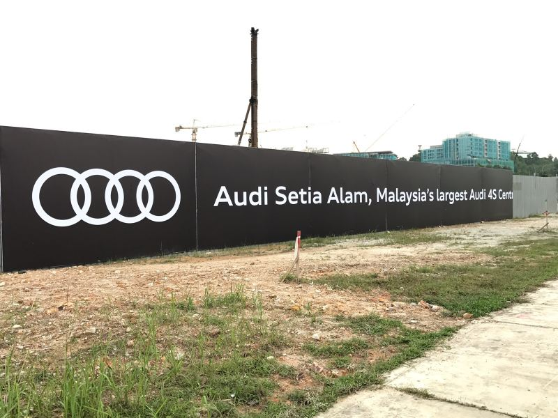 Audi 4s Show Room At Setia Alam  Project Holding Sign Selangor, Kuala Lumpur (KL), Klang, Malaysia Supplier, Supply, Manufacturer, Service   A One Advertising Sdn Bhd