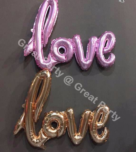 **NEW** 16in Giant Linking  LOVE foil balloon (Pink)
