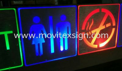 LED decorative mini sign can be used in restaurants, budget hotels, home bathroom for people who stylish lighting and signage (click for more detail)
