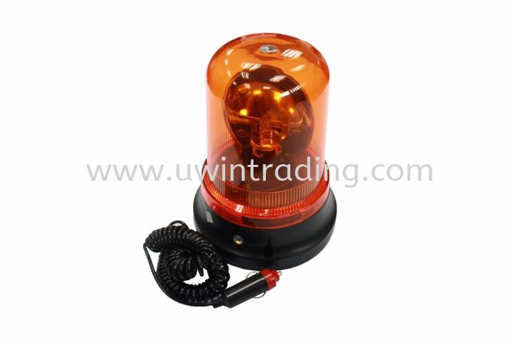 Revolving Magnetic Beacon Amber c/w Cigarette Connector