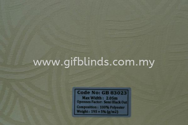半防阳样本 GB83023 半防阳样本 GB83021-24 卷帘   Supplier, Suppliers, Supplies, Supply | GIF Blinds (M) Sdn Bhd