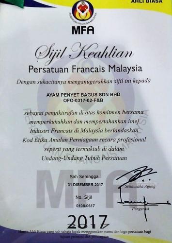 MFA Certificate