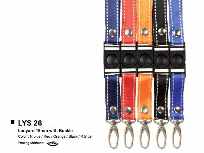 LYS 26 LANYARD 16mm WITH BUCKLE