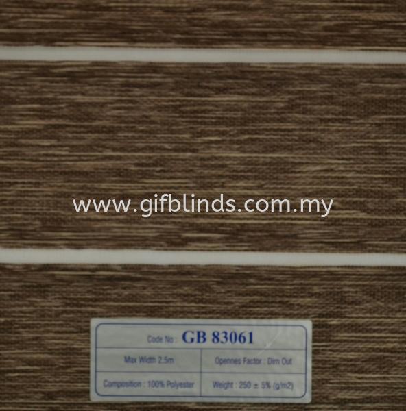 半遮光斑马帘样本 GB83061 半遮光斑马帘样本 GB 83061-63 斑马帘   Supplier, Suppliers, Supplies, Supply | GIF Blinds (M) Sdn Bhd