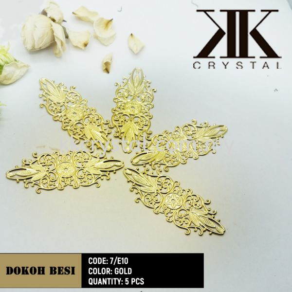 Dokoh Besi, Code: 7/E10, Gold Plated, 5pcs/pack (BUY 1 GET 1 FREE) Dokoh Besi  Kuala Lumpur (KL), Malaysia, Selangor, Klang, Kepong Wholesaler, Supplier, Supply, Supplies   K&K Crystal Sdn Bhd