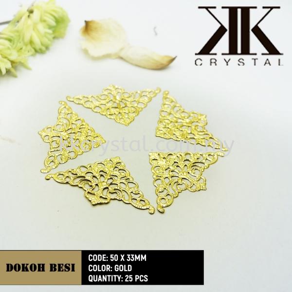 Dokoh Besi, Triangle 50 x 33mm, Gold Plated, 25pcs/pack (BUY 1 GET 1 FREE) Dokoh Besi  Kuala Lumpur (KL), Malaysia, Selangor, Klang, Kepong Wholesaler, Supplier, Supply, Supplies | K&K Crystal Sdn Bhd