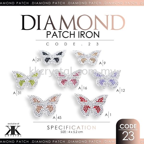 Diamond Patch Iron, Code: 23#, 10pcs/pack (BUY 1 GET 1 FREE) Diamond Patch Iron  Iron on Metal / Patch Kuala Lumpur (KL), Malaysia, Selangor, Klang, Kepong Wholesaler, Supplier, Supply, Supplies   K&K Crystal Sdn Bhd