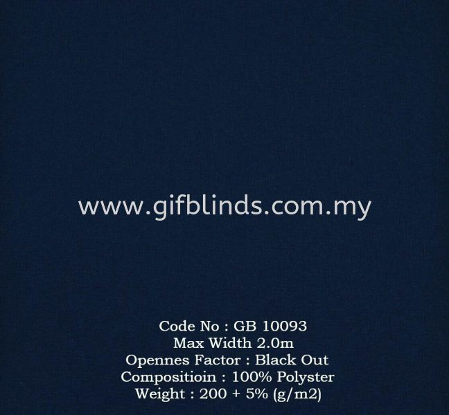 Black Out Roller Blinds Sample GB10093 Black Out Roller Blinds Sample GB10091-96 Roller Blinds Johor Bahru, JB, Johor, Malaysia. Supplier, Suppliers, Supplies, Supply | GIF Blinds (M) Sdn Bhd