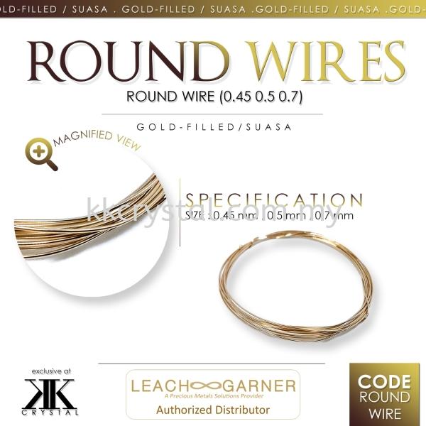Suasa (Gold Filled), Round Wire Wire  Suasa (Gold Filled)  Kuala Lumpur (KL), Malaysia, Selangor, Klang, Kepong Wholesaler, Supplier, Supply, Supplies | K&K Crystal Sdn Bhd