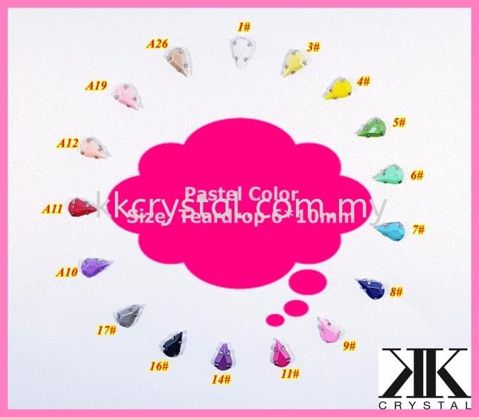 Chunky Beads, Teardrop, 6x10mm, A2_Pastel Color, 40pcs/pack (BUY 1 GET 1 FREE) Chunky Beads - A2 Pastel Colour Sew On Kuala Lumpur (KL), Malaysia, Selangor, Klang, Kepong Wholesaler, Supplier, Supply, Supplies | K&K Crystal Sdn Bhd