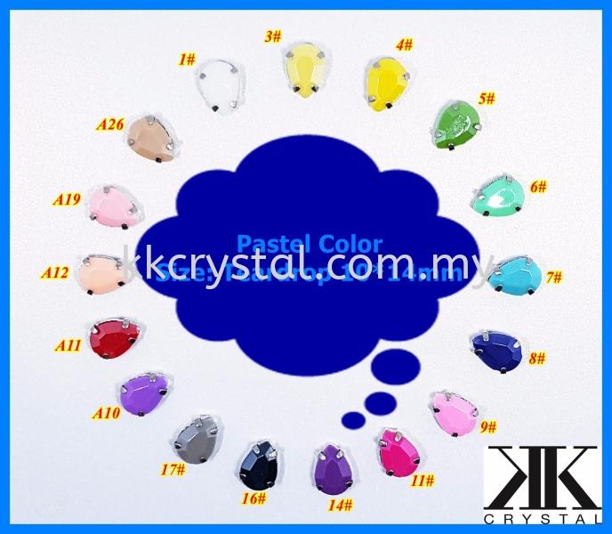 Chunky Beads, Teardrop, 10X14mm, A2_Pastel Color, 20pcs/pack (BUY 1 GET 1 FREE) Chunky Beads - A2 Pastel Colour Sew On Kuala Lumpur (KL), Malaysia, Selangor, Klang, Kepong Wholesaler, Supplier, Supply, Supplies | K&K Crystal Sdn Bhd