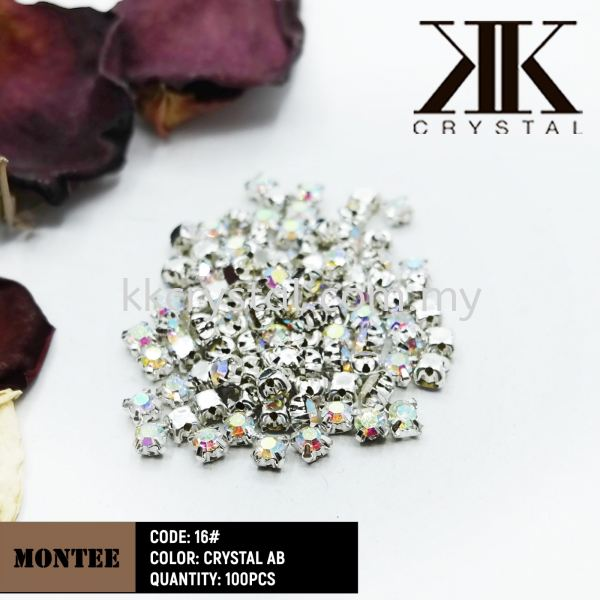 Chunky Beads, Montee, 16#, Crystal AB, 100pcs/pack Chunky Beads - Montee Sew On Kuala Lumpur (KL), Malaysia, Selangor, Klang, Kepong Wholesaler, Supplier, Supply, Supplies | K&K Crystal Sdn Bhd