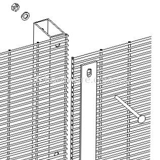 Hollow Post ACF Post (Hollow) Anti-Climb Fence Selangor, Malaysia, Kuala Lumpur (KL), Banting, Klang, Dengkil Supplier, Suppliers, Supply, Supplies | New Far East Hardware Trading Sdn Bhd