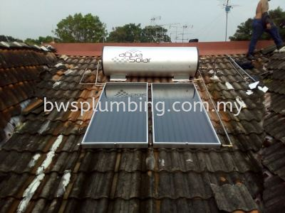 Aqua Solar Water Heater Supply and Install in Klang Valley