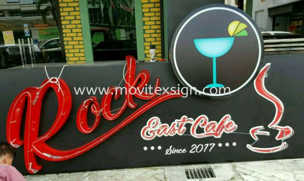 LED light Effact /3D aluminum box up lettering also combination with lighted box design. NEON Signage LED Signage and Neon Signboard Johor Bahru (JB), Johor, Malaysia. Design, Supplier, Manufacturers, Suppliers | M-Movitexsign Advertising Art & Print Sdn Bhd