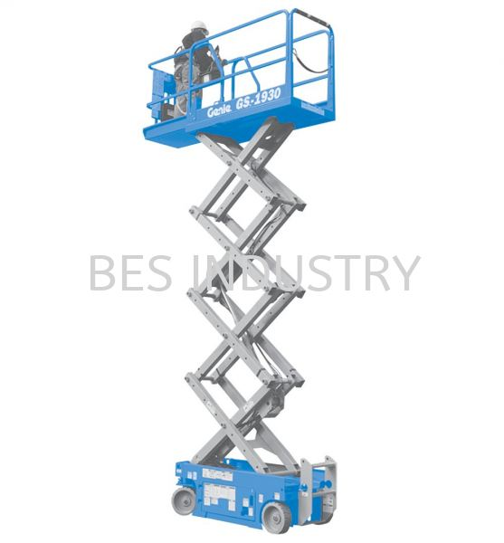Scissor Lift Rental GS-1530 & GS-1930  Scissor Lift Rental Malaysia, Selangor, Kuala Lumpur (KL), Klang Rental, For Rent, Services, Supplier | Bes Industry & Trading Sdn Bhd