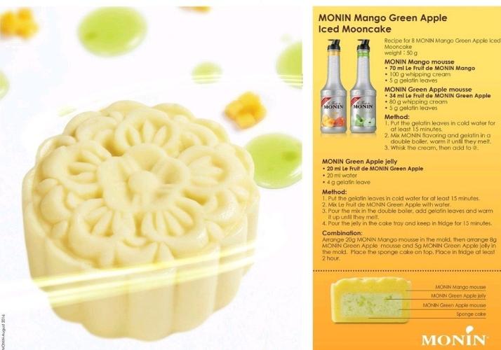 MONIN MANGO GREEN APPLE ICED MOONCAKE