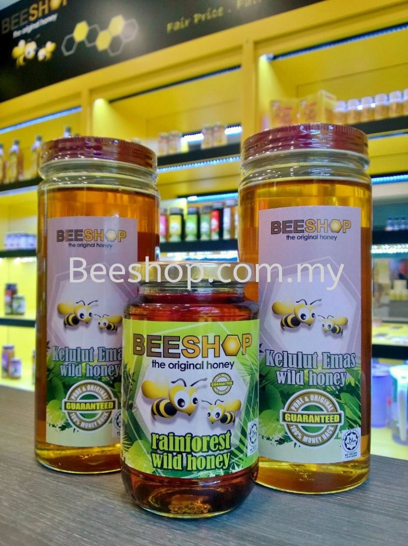 KELULUT EMAS WILD HONEY 959G x2 FREE RAINFOREST WILD HONEY 491G