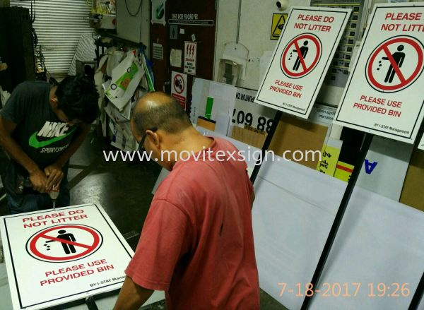 please do not litter signboard keep your factory clean ,to educate our staff more of cleanliness. A good sign well enhanc u a good fung sui for the company. (click for more detail) Safety Signage safety sign sample Johor Bahru (JB), Johor, Malaysia. Design, Supplier, Manufacturers, Suppliers | M-Movitexsign Advertising Art & Print Sdn Bhd