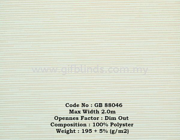 Dim Out Roller Blinds Sample GB88046 Dim Out Roller Blinds Sample GB88041-047 Roller Blinds Johor Bahru, JB, Johor, Malaysia. Supplier, Suppliers, Supplies, Supply | GIF Blinds (M) Sdn Bhd