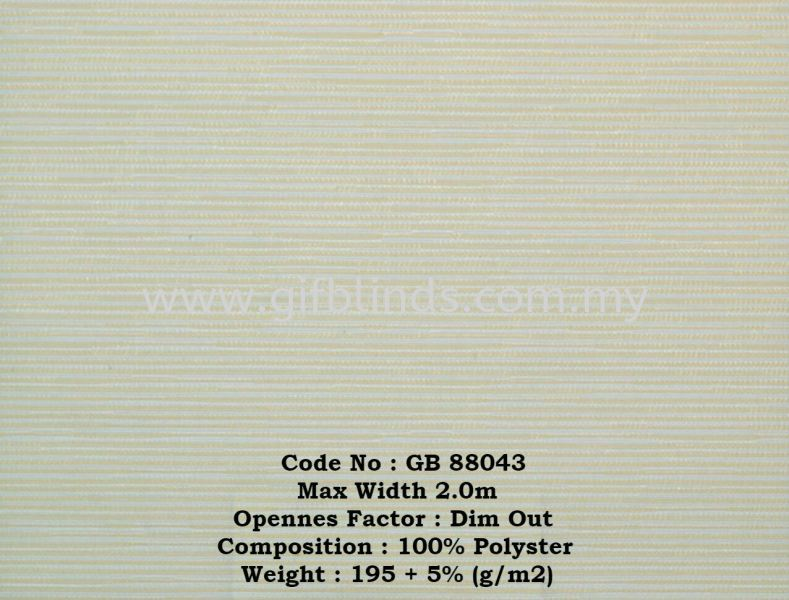 Dim Out Roller Blinds Sample GB88043 Dim Out Roller Blinds Sample GB88041-047 Roller Blinds Johor Bahru, JB, Johor, Malaysia. Supplier, Suppliers, Supplies, Supply | GIF Blinds (M) Sdn Bhd