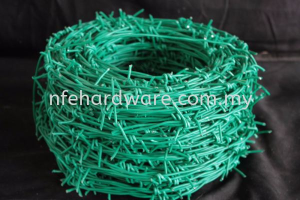 Green PVC Barbed Wire Barbed Wire Chain-Link Fence Selangor, Malaysia, Kuala Lumpur (KL), Banting, Klang, Dengkil Supplier, Suppliers, Supply, Supplies | New Far East Hardware Trading Sdn Bhd
