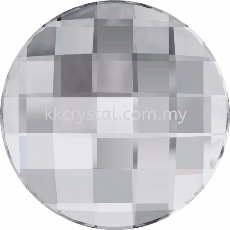 Swarovski Flat Backs Hotfix, 2035 10mm, Crystal M HF (001), 8pcs/pack