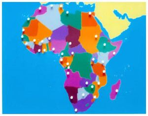 Africa Puzzle Map (CM070) Cultural Studies Kuala Lumpur (KL), Malaysia, Selangor, Cheras Montessori, Materials, Supplier, Supply | D'Argosy Educational Equipment (M) Sdn Bhd