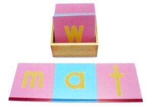 Sandpaper Letters (Wooden) and Box (LM020-W) Language Kuala Lumpur (KL), Malaysia, Selangor, Cheras Montessori, Materials, Supplier, Supply | D'Argosy Educational Equipment (M) Sdn Bhd
