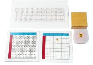 Multiplication Working Chart and Answer Charts & Plastic Box for Tiles (MM 250-S) Mathematics Kuala Lumpur (KL), Malaysia, Selangor, Cheras Montessori, Materials, Supplier, Supply | D'Argosy Educational Equipment (M) Sdn Bhd