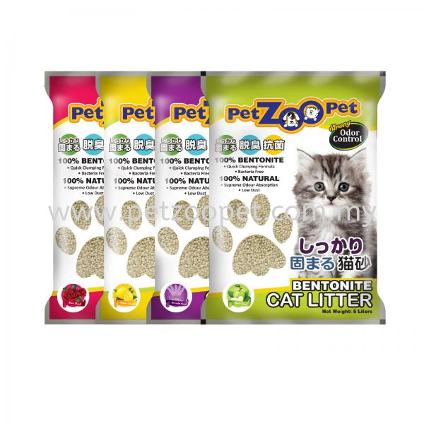 5L/4公斤 PETZOOPET 猫沙 膨润土猫沙   Supplier, Wholesaler, Exporter, Supply | Starcage Pet Products Sdn Bhd