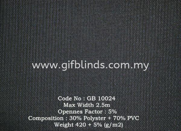 Sunscreen Roller Blinds Sample GB10024 Sunscreen Roller Blinds Sample GB10024-30 Roller Blinds Johor Bahru, JB, Johor, Malaysia. Supplier, Suppliers, Supplies, Supply | GIF Blinds (M) Sdn Bhd