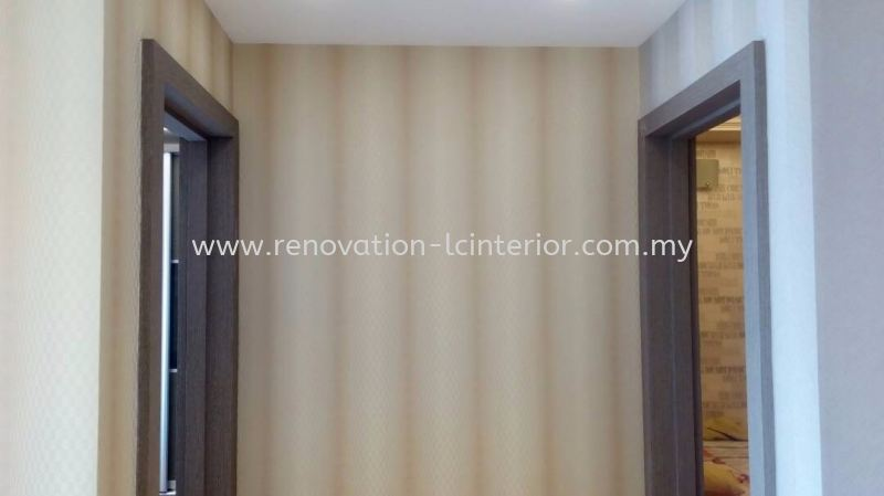 Wallpaper Design(project in Setia Walk Puchong R3) Wallpaper Selangor, Kuala Lumpur (KL), Malaysia. Service, Design, Supplier, Supply | LC Cabinetry & Renovation Design