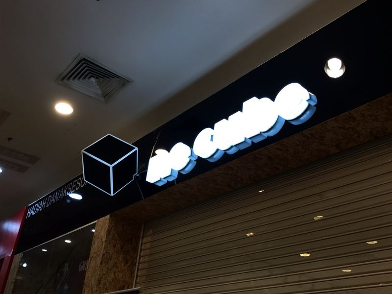 One Cube At Aeon Bukit Tinggi  LED Conceal Acrylicbix Up Lettering Selangor, Kuala Lumpur (KL), Klang, Malaysia Supplier, Supply, Manufacturer, Service | A One Advertising Sdn Bhd