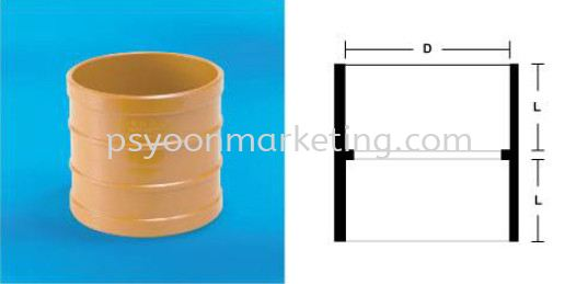 Straight Coupling UPVC Underground Drainage & Sewerage Fittings PVC-U Drainage, Rainwater & Sewerage Kuala Lumpur (KL), Malaysia, Selangor Supplier, Suppliers, Supply, Supplies | PS YOON Marketing Sdn Bhd