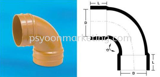 Sweep Bend Sweep Bend UPVC Underground Drainage & Sewerage Fittings PVC-U Drainage, Rainwater & Sewerage Kuala Lumpur (KL), Malaysia, Selangor Supplier, Suppliers, Supply, Supplies | PS YOON Marketing Sdn Bhd