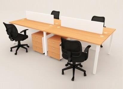 DESKING CHIPBOARD 4 SEATERS OFFICE DESKING SYSTEM OFFICE WORKSTATION / OPEN PLAN PARTITION Malaysia, Selangor, Kuala Lumpur (KL), Semenyih Manufacturer, Supplier, Supply, Supplies | IOS Office Systems Sdn Bhd