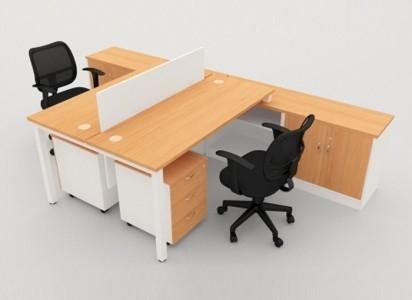 DESKING EXECUTIVE 2 SEATERS OFFICE DESKING SYSTEM OFFICE WORKSTATION / OPEN PLAN PARTITION Malaysia, Selangor, Kuala Lumpur (KL), Semenyih Manufacturer, Supplier, Supply, Supplies | IOS Office Systems Sdn Bhd