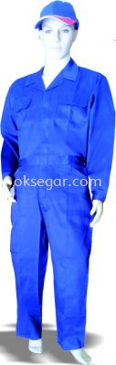 Dyed TC Drill Blue Coverall