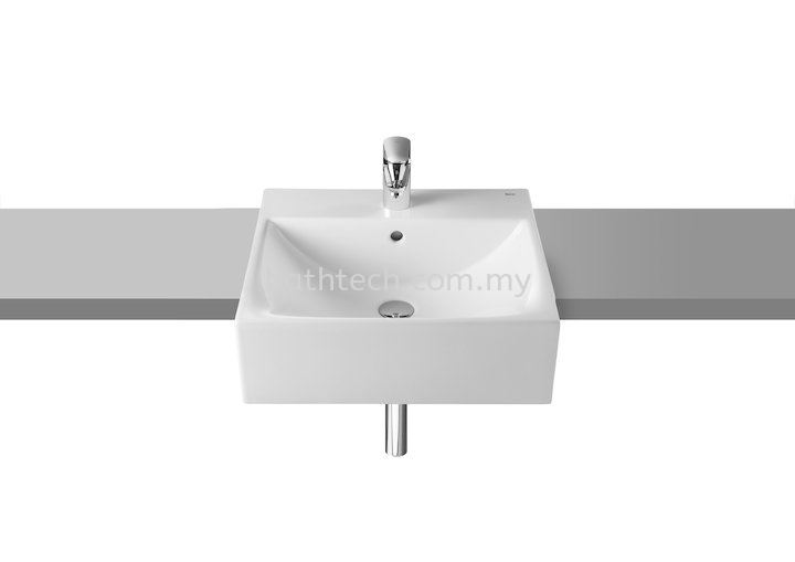 Roca Diverta Semi-Recessed Wash Basin 50 x 45 (A32711S000)  Roca Semi Recessed Basins Basins Johor Jaya, Johor Bahru (JB), Johor. Supplier, Suppliers, Supply, Supplies | Bathtech Building Products Sdn Bhd
